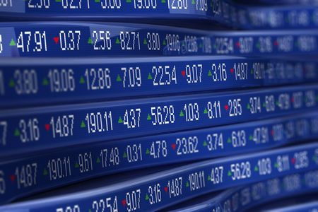 stock ticker board: Computer generetad stock trading ticker
