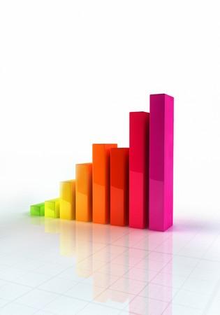 Shiny abstract bar graph indicating growth Stock Photo - 7429670