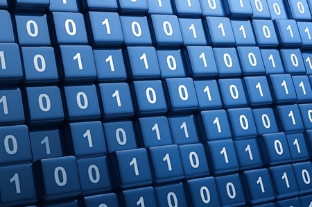 Big group of binary cubes Stock Photo