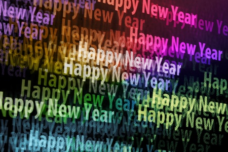 Close up of computerscreen with Happy New Year