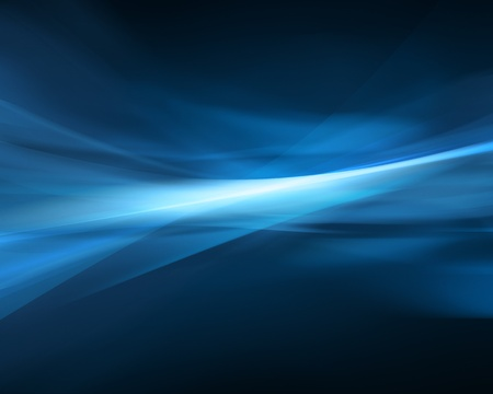 Computer genereted blue energy wave Stock Photo