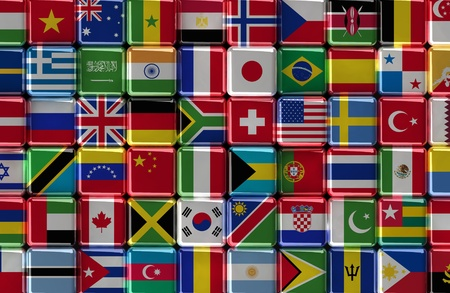 Collection of world flags Stock Photo - 10884643