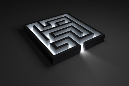 Small shiny dark maze Stock Photo - 10884642