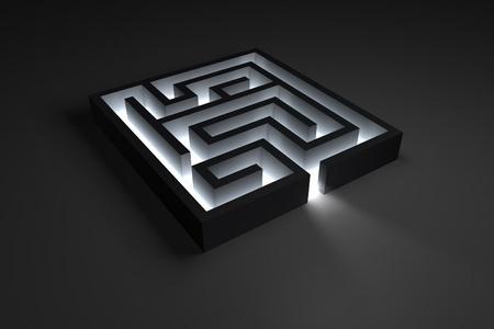Small shiny dark maze Stock Photo - 10884642