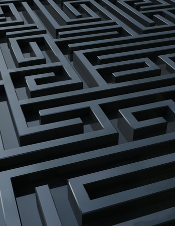 Full frame rendering of a dark maze Stock Photo - 10884655