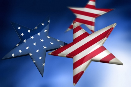 USA flag by stars