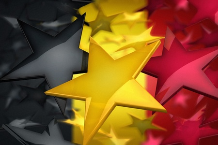 Belgian flag built of rendered stars Stock Photo