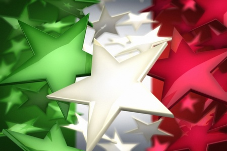 Italy flag by stars