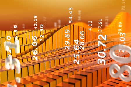 Rendering of stock market chart with abstract numbers Stock Photo - 10884799