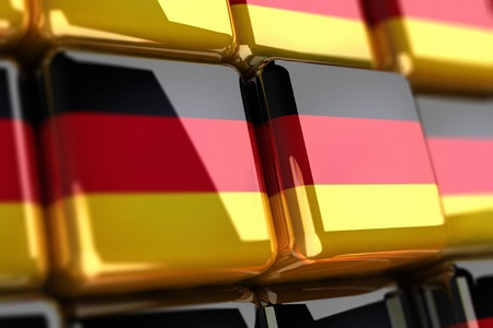 Big pile of cubes with german flag