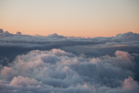 Sunset above the clouds on Mauis Haleakala