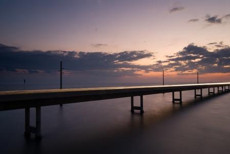 Seven mile bridge at sunset - Florida keys