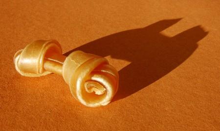 rawhide: Rawhide Dog Chew with dramatic side lighting