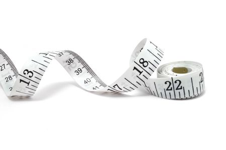 'tape measure':  Tape measure isolated on a white background