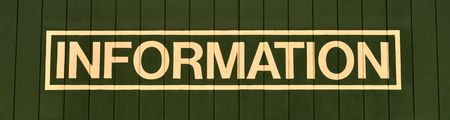 The word Information painted on a wall Stock Photo - 4829387