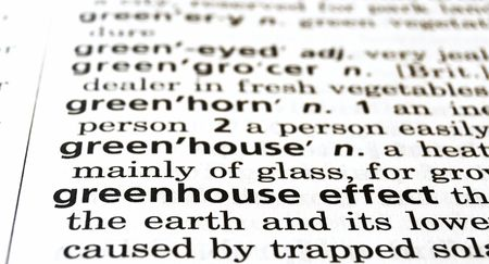greenhouse effect: The phrase greenhouse effect in a dictionary