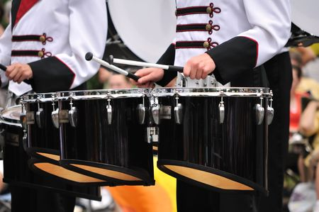 Drummers Playing Tenor (Quad Toms) Drums in Parade photo