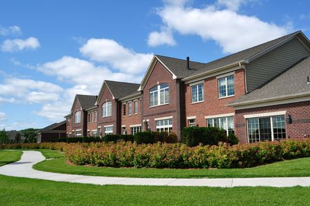 Suburban Luxury Townhomes, real estate, copy space Stock Photo - 5153349