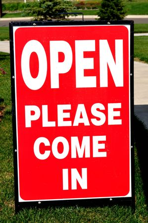 come in: Open House (Please Come in) Sign, Real Estate