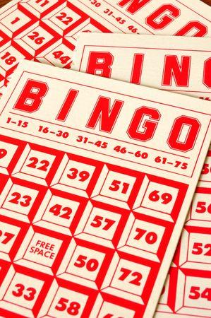 Bingo Cards, vertical, close-up