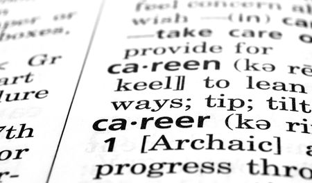 The word Career in a dictionary, close-up
