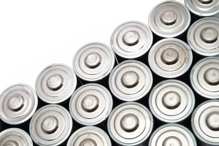 Many AA Batteries Isolated on White Stock Photo - 6167367
