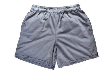 Gray Shorts Isolated on a White Background