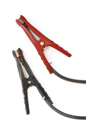 Jumper Cables Isolated on a White Background