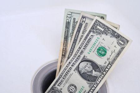 Money Down the Drain, Horizontal Format Stock Photo - 6282531