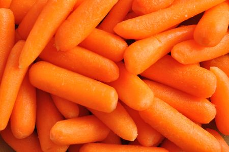 carrots: Close-up of Baby Carrots for a Background