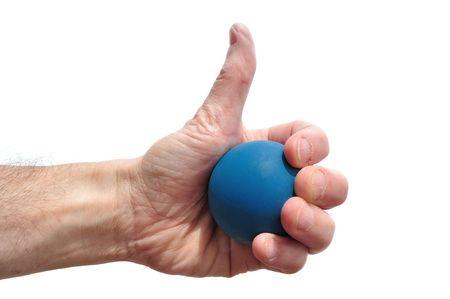 racquetball: Reproductor de Raquetbol Giving pulgares arriba aislada en blanco de inicio de sesi�n