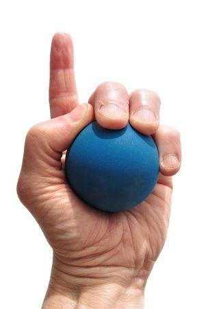 racquetball: N�mero de un jugador de racquetball aislada en blanco
