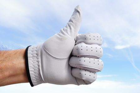 Golfer Wearing Golf Glove Giving Thumbs Up Sign Stock Photo - 6790081