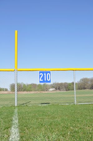 foul: Little League Baseball Foul Pole and Outfield Fence