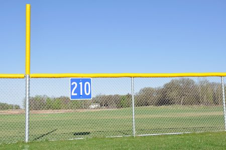 Little League Baseball Foul Pole and Outfield Fence Stock Photo - 6911759