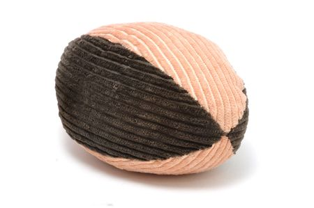 Corduroy Football Pet Toy Isolated on a White Background