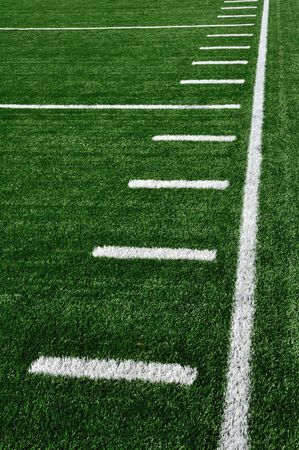sideline: Sideline on American Football Field with Hash Marks