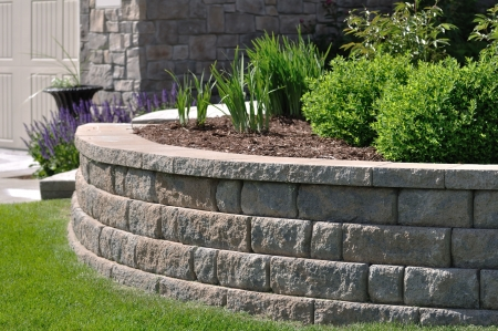 retaining: Retaining Wall at a Residential Home