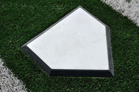 Home Plate on Baseball Field with Artificial Turf Stock Photo - 7067676