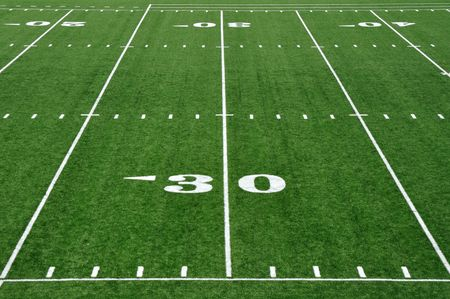 Thirty Yard Line on American Football Field photo