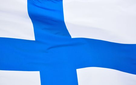 Close up of the Flag of Finland