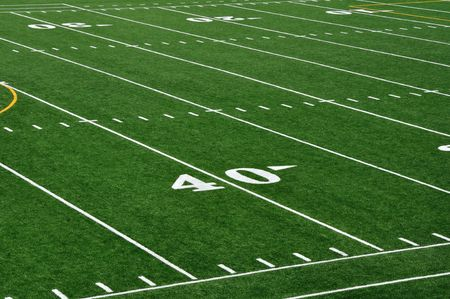 sideline: Forty Yard Line on American Football Field