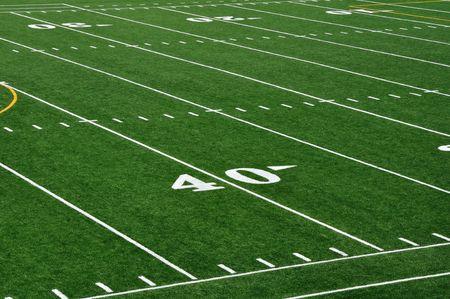 campo di calcio: Quaranta Yard Line sul campo di Football americano