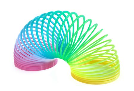 Multi-Colored Spring Toy Isolated on White Stock Photo - 7141891