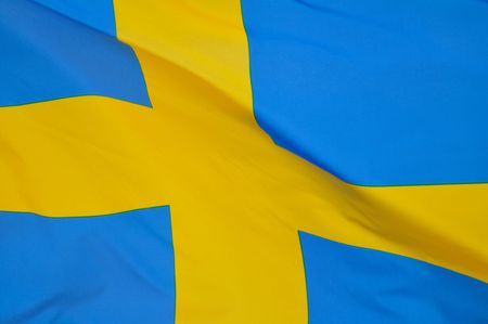 Close up of the Flag of Sweden