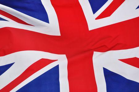 bandera inglesa: Close up de la bandera de Gran Breta�a