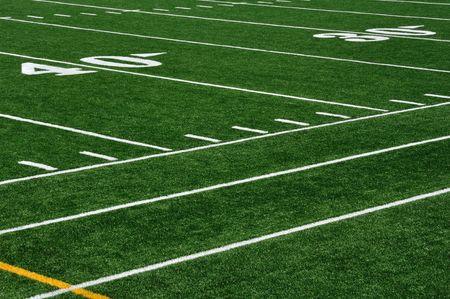 campo di calcio: Quaranta Yard Line sul campo di Football americano e Sideline