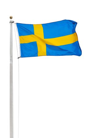 sweden flag: The Flag of Sweden Isolated on a White Background