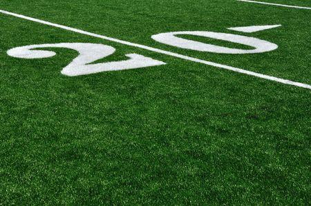 Twenty Yard Line on American Football Field Stock Photo - 7187092