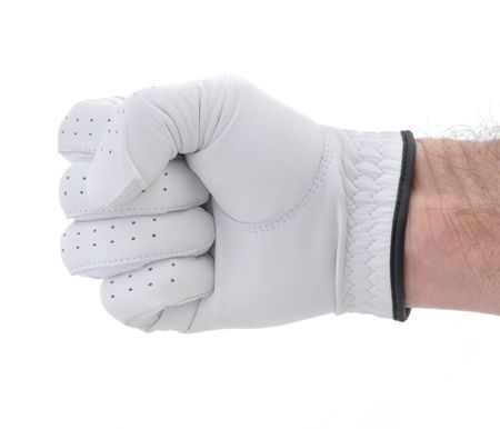 Golfer Wearing Golf Glove Making a Fist photo